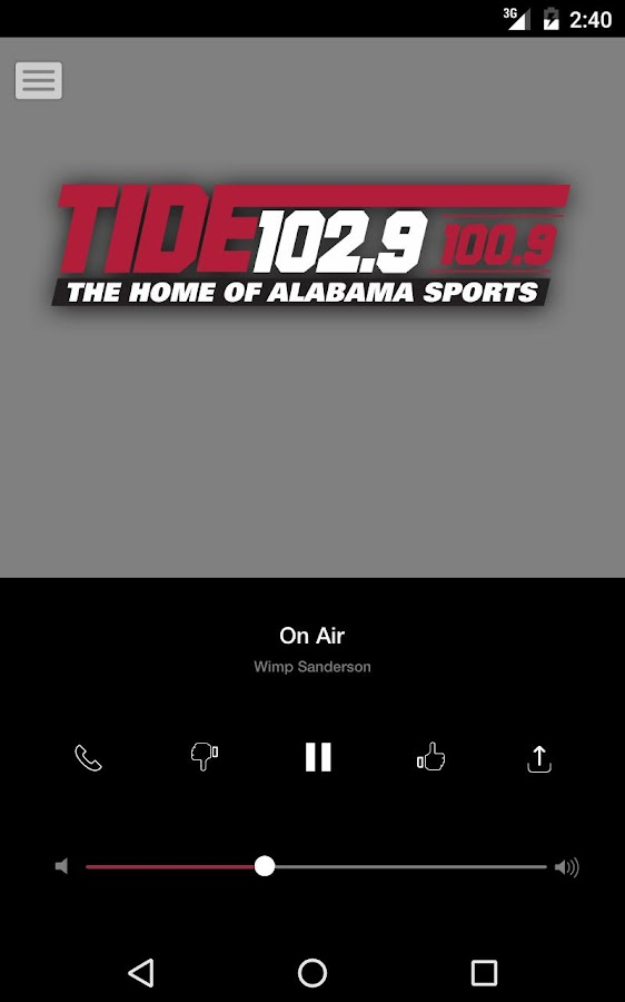 Tide 102.9 FM - Tuscaloosa (WNPT)- screenshot