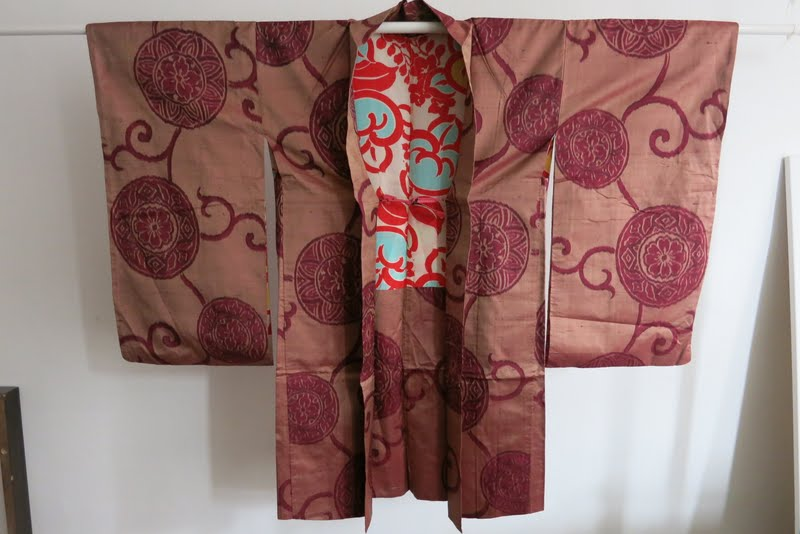 kimono haori meisen seide aus japan 1920 seide art deco handgen ht ebay. Black Bedroom Furniture Sets. Home Design Ideas