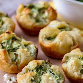 Spinach Cream Cheese Pastries Puffs Recipes
