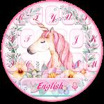 Flower Unicorn Keyboard Icon
