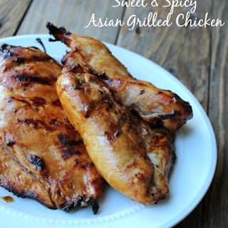 Sweet and Spicy Asian Grilled Chicken.
