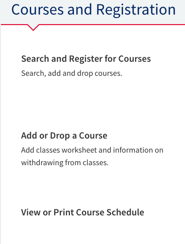how do i view or print my student schedule of classes flashline