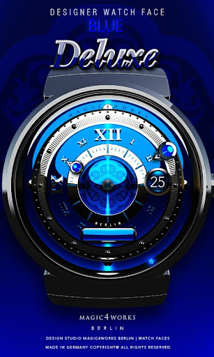 Watch Face Blue Deluxe