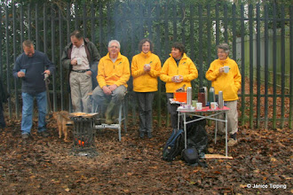 Photo: The Yellow Perils enjoy a hot cuppa