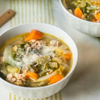 Low Carb Vegetable & Sausage Soup.