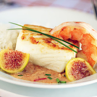 Halibut with Fig & Ginger Sauce.