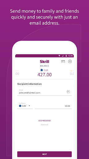 Skrill: Fast, secure online payments - screenshot