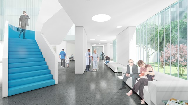 Imagen recreada del interior de las instalaciones del nuevo complejo hospitalario
