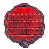 Red Hexagons TouchPal