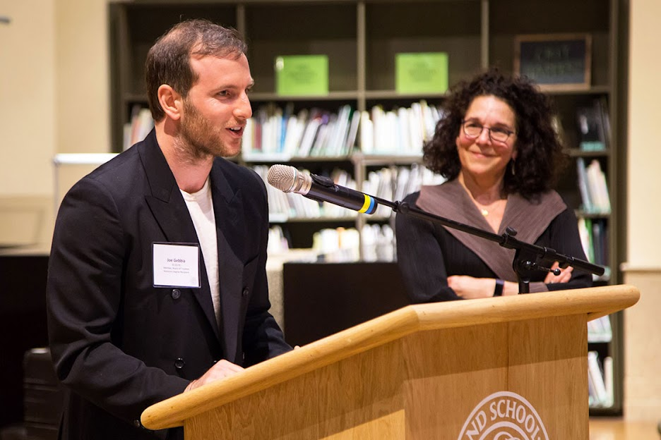 Gebbia Speaks with Civic Leaders