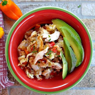 Breakfast Chicken Hash with Peppers and Mushrooms - Whole 30 Compliant.