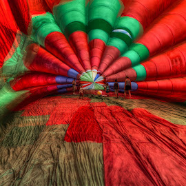 Inside the Balloon by John Hoey - Artistic Objects Other Objects ( hot air balloon, new england, rhode island, color, aj photographic art, ri, festival, travel, balloon, kingston )