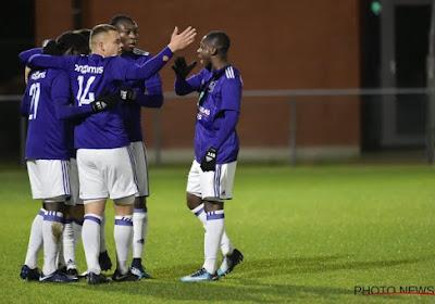 Les Espoirs d'Anderlecht explosent ceux du FC Bruges, Charleroi et le Standard perdent