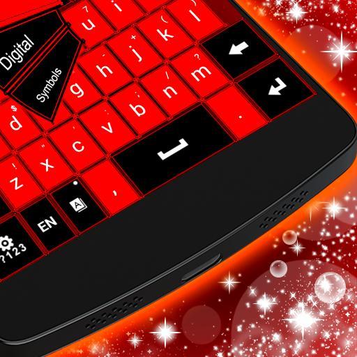 個人化App|红色黑色键盘主题 LOGO-3C達人阿輝的APP