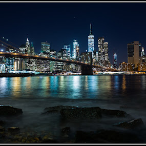 Brooklyn Bridge and New York by Andrew Holland - Buildings & Architecture Bridges & Suspended Structures