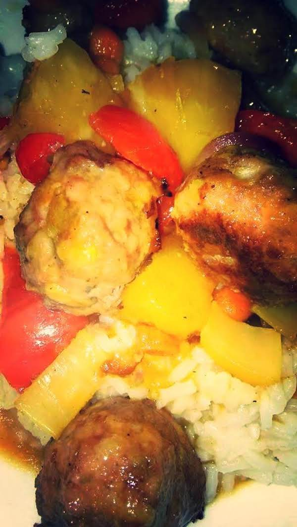 Hawiian Ham Balls Recipe