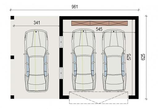 AD-G3.3 - Rzut garażu