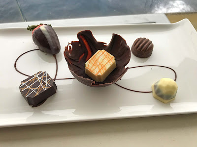 Chocolate treats that somehow quickly disappeared from a veranda on Norwegian Jade.