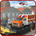 Ambulance Rescue Helicopter 3D icon