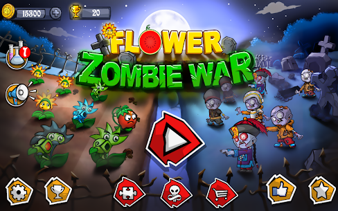 Flower Zombie War 1.1.1 Mod + Data Download 1