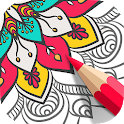 Mandala Coloring Book 🌸 Free Adult Coloring Game icon