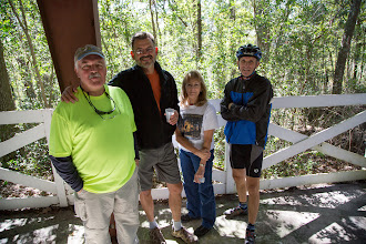Photo: Edwin, Mark and Sue, and Dale helped wherever they could