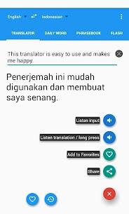 Indonesian English Translator 7.6.2 Mod + Data for Android 1