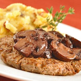Salisbury Steaks with Red Wine Glazed Mushrooms