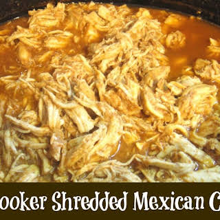 Slow Cooker Mexican Shredded Chicken Filling.
