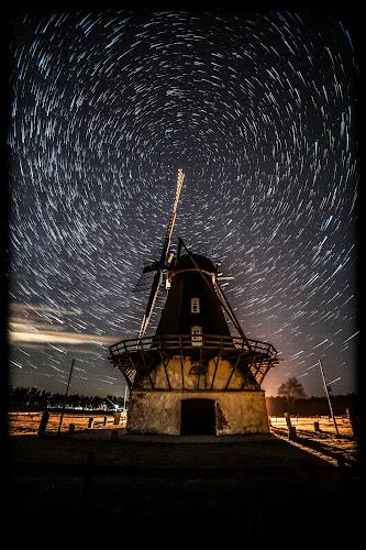 Old mill by Jocke Mårtensson - Buildings & Architecture Decaying & Abandoned ( mill, stars, dark, night, startrails,  )