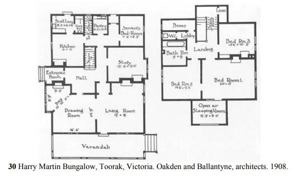 Floorplan, Harry Marttin Bungalow, Toorak