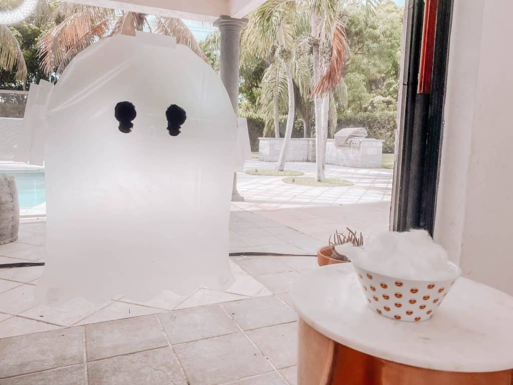 halloween ghost sticky wall toddler activity