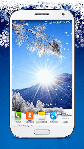 android Snow Live Wallpaper HD Screenshot 3