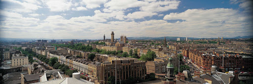 The Glasgow skyline, including buildings of Park Circus.