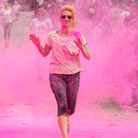 Charity Colur Dash by Tristan Wright - Sports & Fitness Running ( cloud, pink, paint, sunglasses, running, finish line,  )
