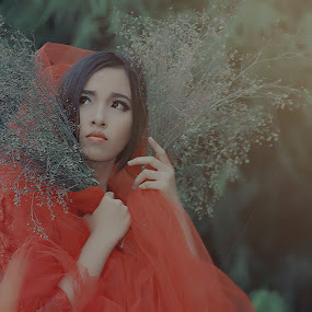 red primary by Wahid Hasyim - People Portraits of Women ( model,  )