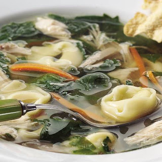 Chicken and Spinach Tortellini Soup Recipe