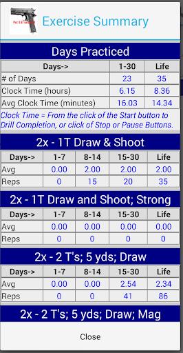 Dry Fire Par Time Tracker 1.96 screenshots 8