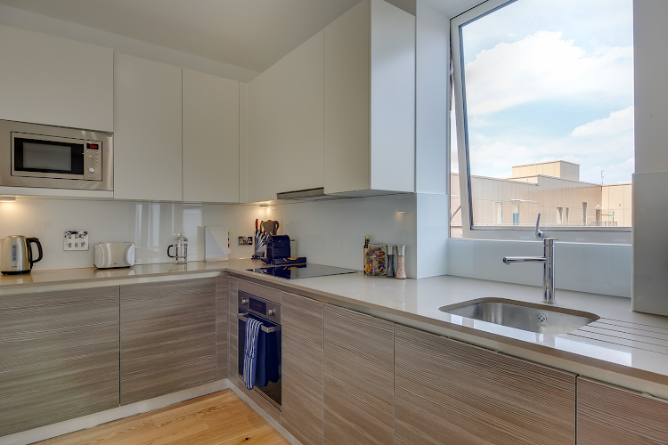 Fully equipped kitchen at Heathrow Central Apartments