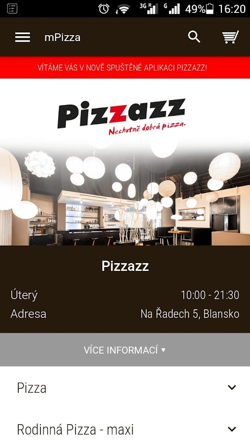 Pizzazz Blansko- screenshot
