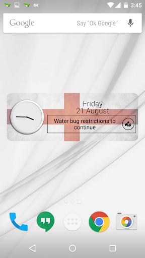 England Clock RSS Widget