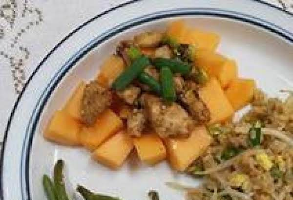 Sesame Chicken And Melon