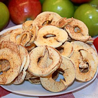 Homemade Apple Rings using a Dehydrator