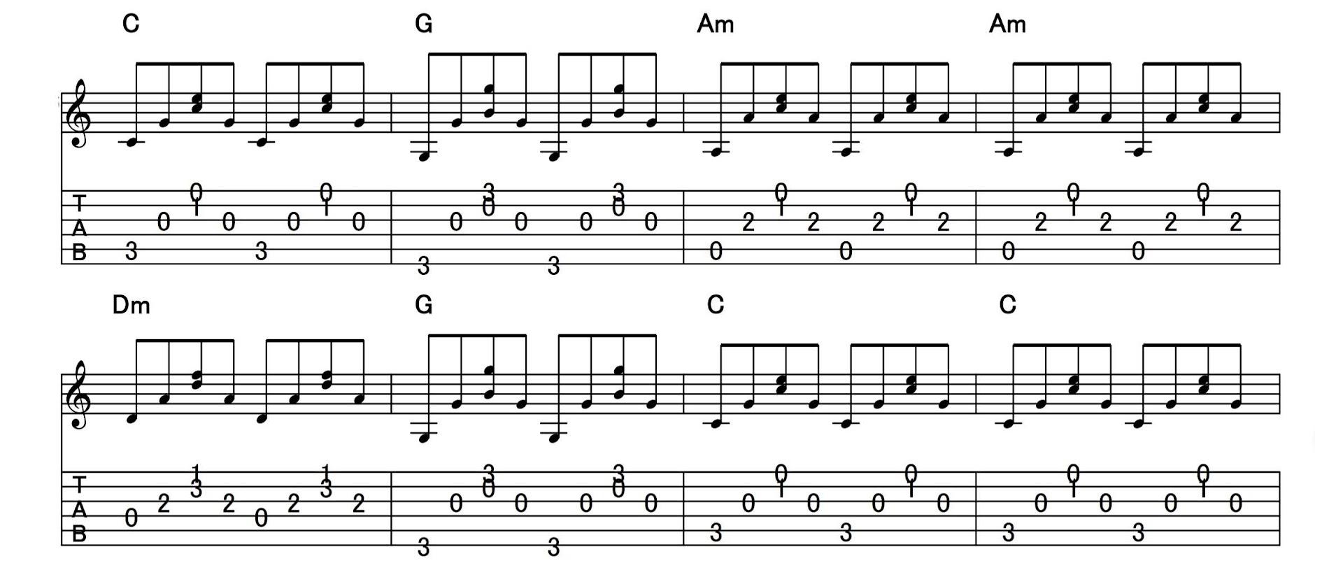 アルペジオの練習:パターン4