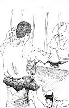 Photo: 何日再相逢2011.10.04鋼筆 二十寒暑陷牢籠 二十分鐘訴情衷 重洋相隔結髮情 問天何日再相逢