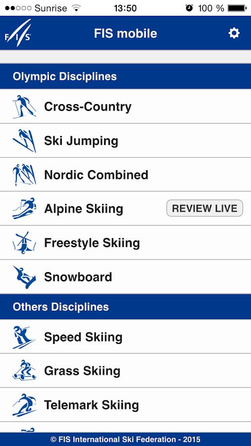 fis-ski live