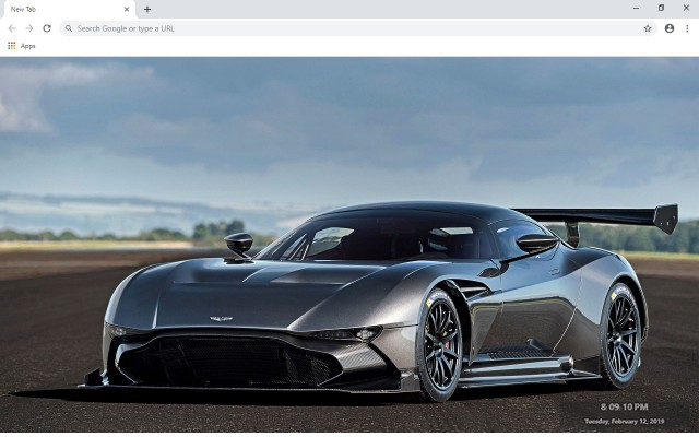 Aston Martin Vulcan New Tab Theme