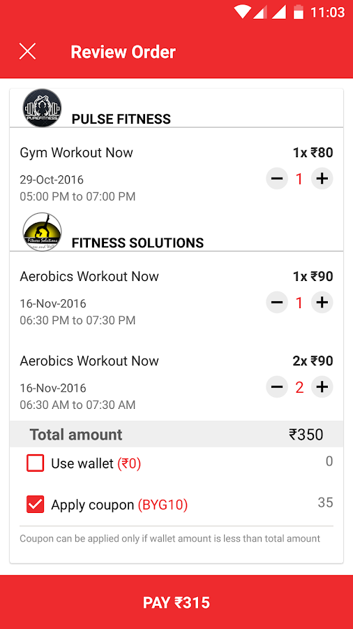 BYG - Fitness,Gyms,Yoga,Zumba- screenshot