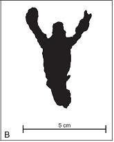 Figura humana no Abrigo Usina São Jorge – Ponta Grossa - Paraná. Fonte: Silva et al. (2006).