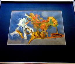 Photo: 032 (View A) FIRST SIGNS OF WINTER ~ ПЕРШІ КРОКИ ЗИМИ Luba Bilash original ~ mixed media matted & framed $200